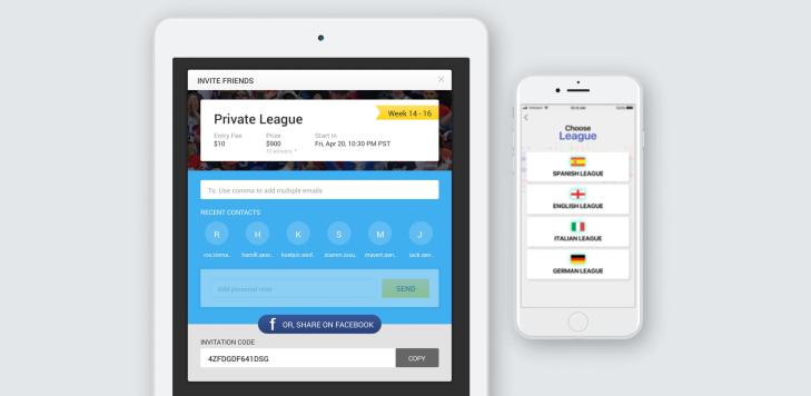 1 DFS white label software – for NFL, Baseball, Soccer, cricket