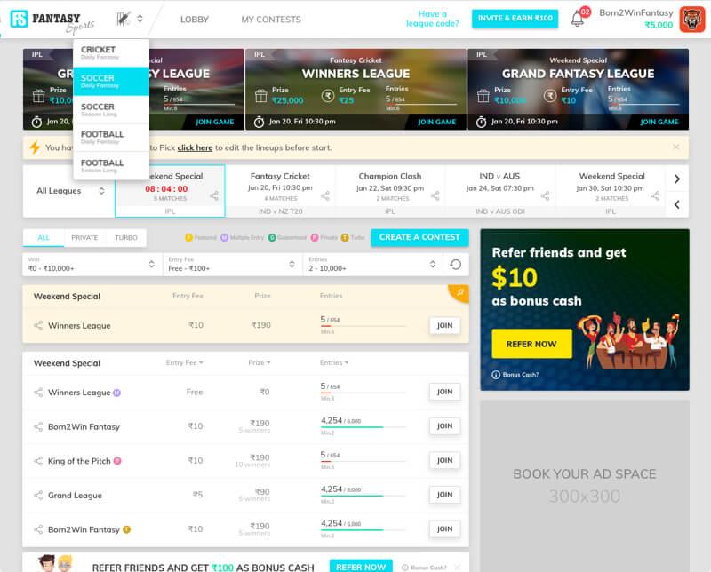 Howzat - Fantasy footballwebsitedesign& development by Vinfotech