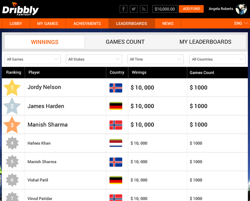 Multilingual daily fantasy sports software for Mexico by Vinfotech
