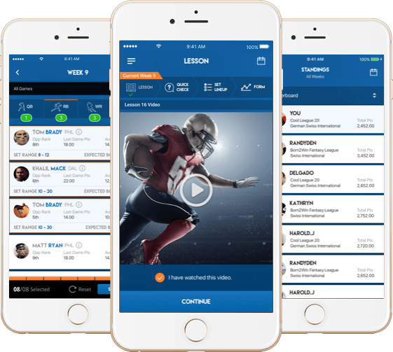 NFL fantasy football website software for USA by Vinfotech