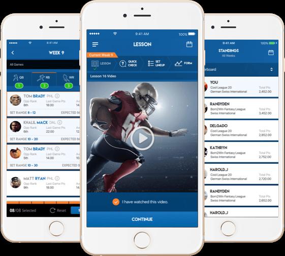 NFL fantasy football website software for USA by Vinfotech