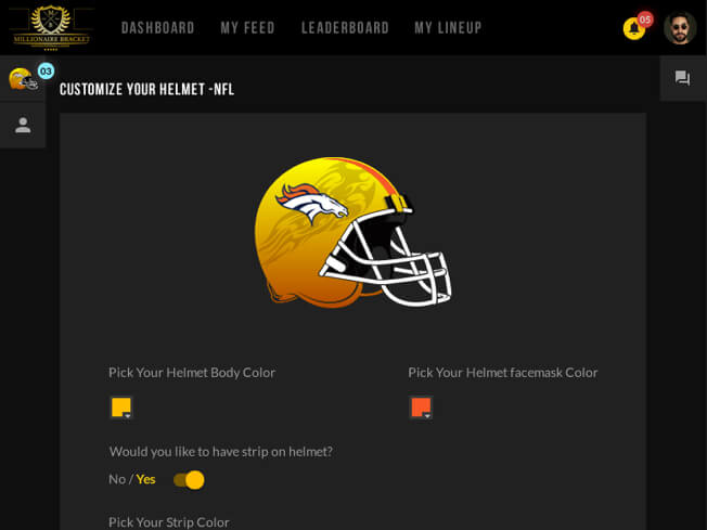Nfl fantasy football web design and development by Vinfotech