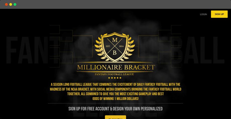 US season-long fantasy football web design and development by Vinfotech