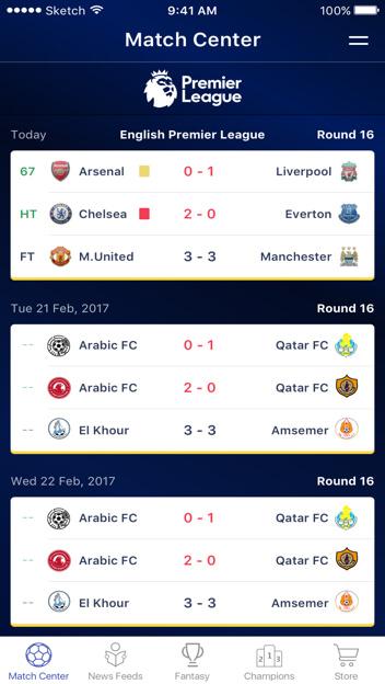 Arabic Fantasy Soccer Web Design by Vinfotech