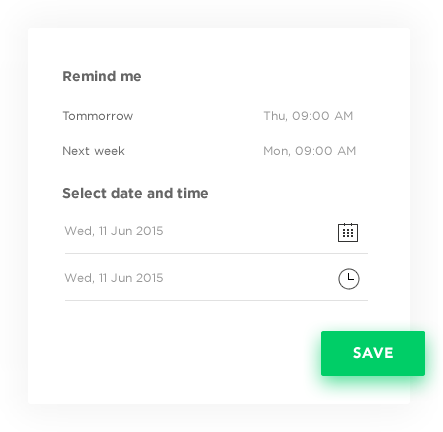 Automatic reminders - Enterprise Social Networking Software by Vinfotech