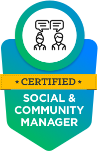 Certified Social and Community Manager by Vinfotech