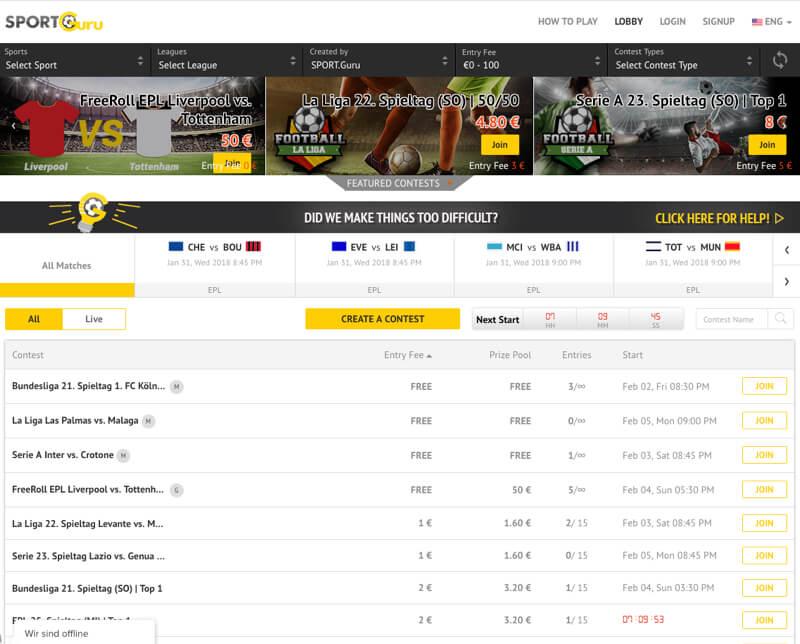 Create a Fantasy Football Website for European fans by Vinfotech