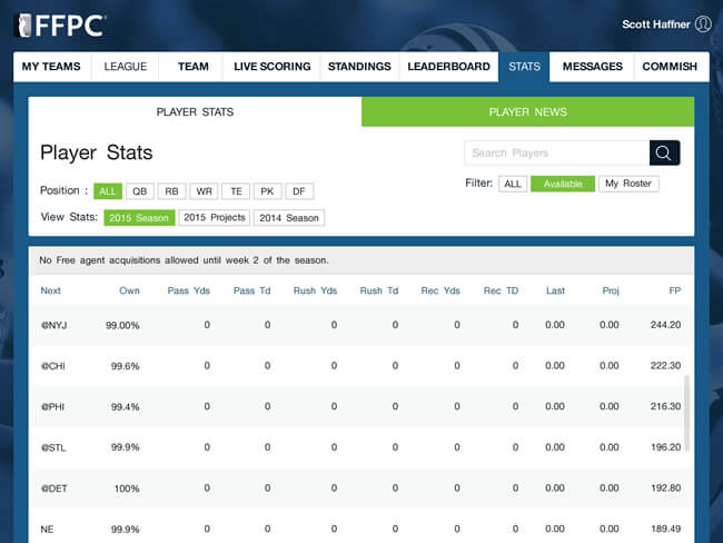 Creating a season long fantasy football website & app by Vinfotech