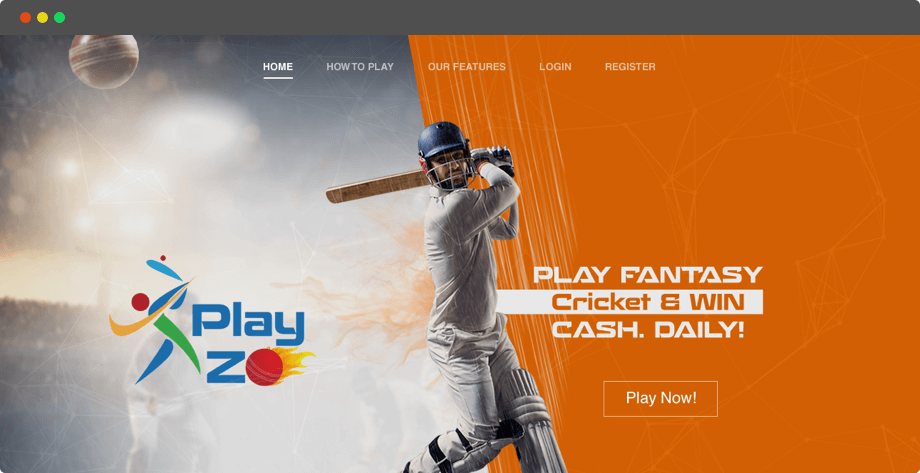 Daily Fantasy Cricket League Web Design and App Development for Indian fans by Vinfotech