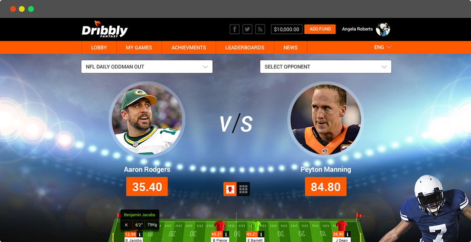 daily fantasy football software for NFL,NBA,Soccer & MLB by Vinfotech