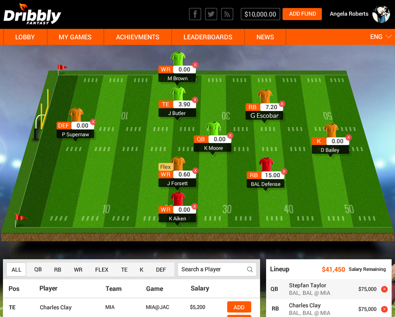 daily fantasy sports website development for Mexico by Vinfotech