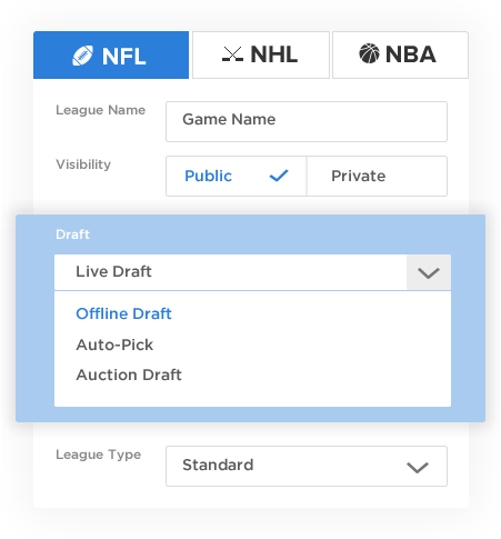 Big 4 Sports Fantasy Software