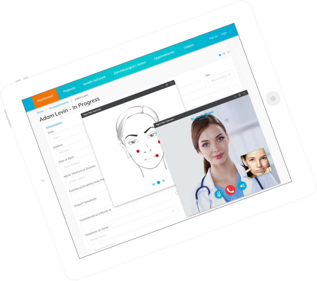 EMR Software Development Services – Dermatology Plus by Vinfotech