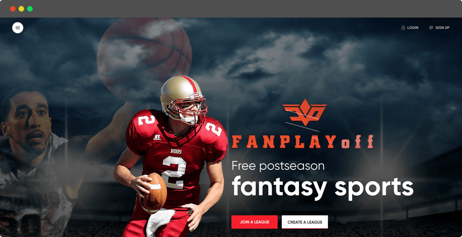 Fanplayoff - Season Long Playoff Fantasy Sports Website Design