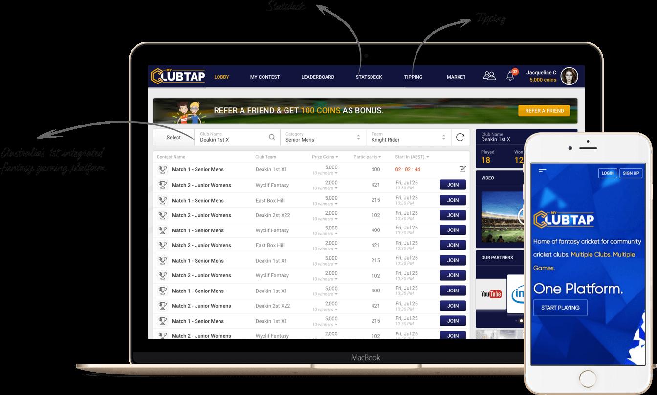 Fantasy Cricket Platform Development Australia by Vinfotech
