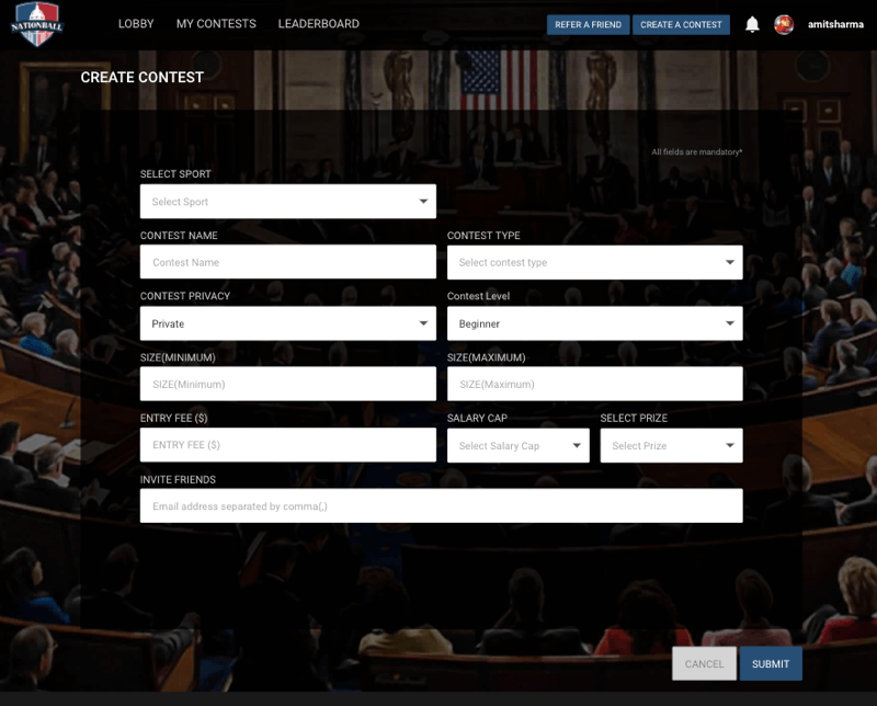 Fantasy politics App Development for American Users by Vinfotech