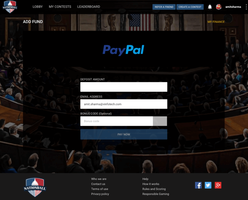 Fantasy politics Website Development for American Users by Vinfotech