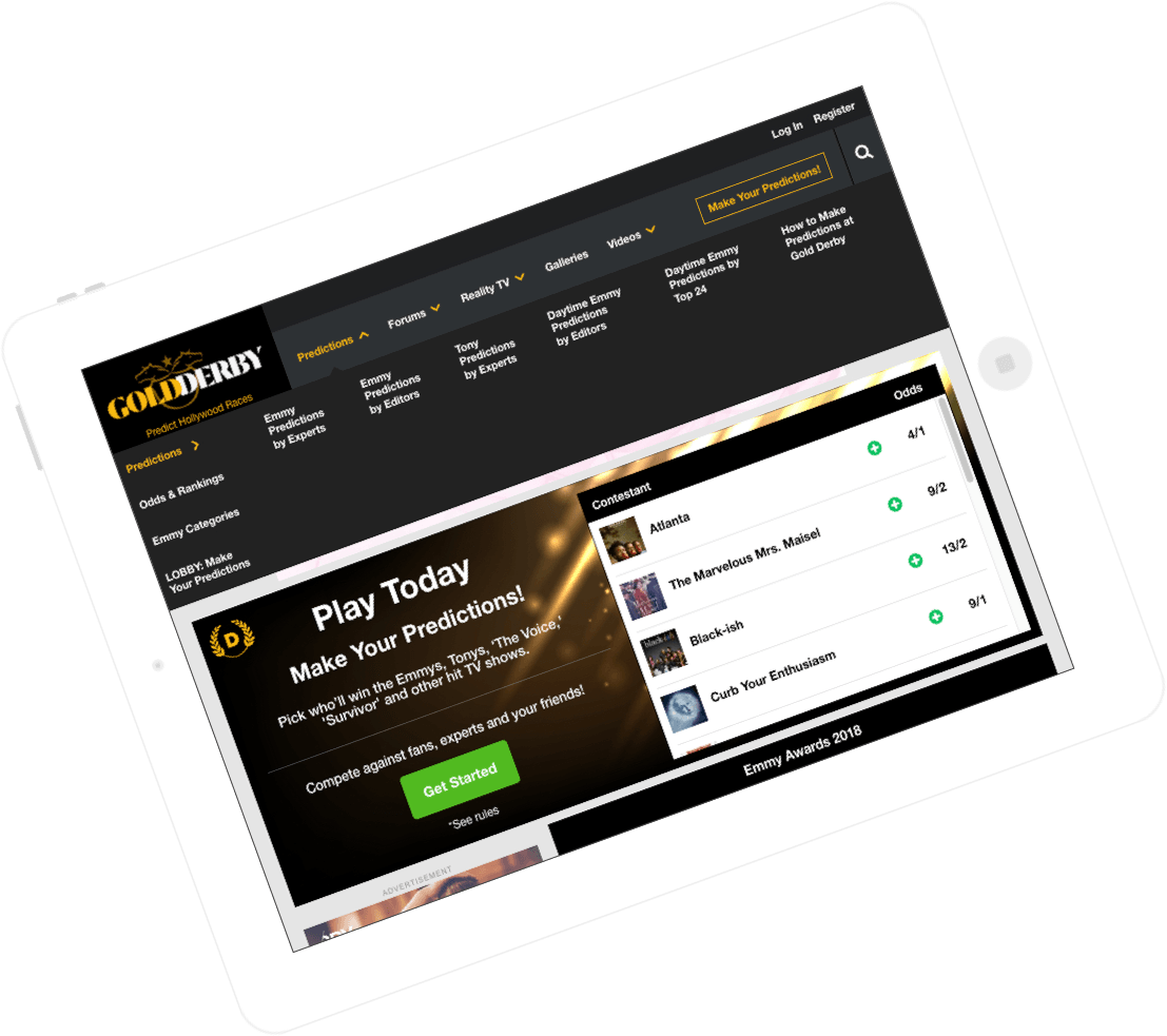 fantasy reality tv website & app development by Vinfotech