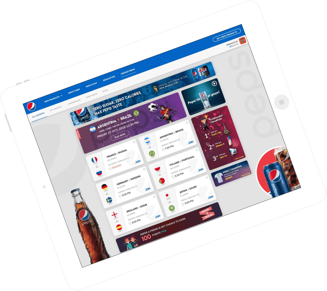 fantasy sports platform for brands to engage users by Vinfotech