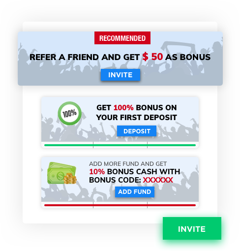 Football fantasy software with referral program and bonus cash by Vinfotech
