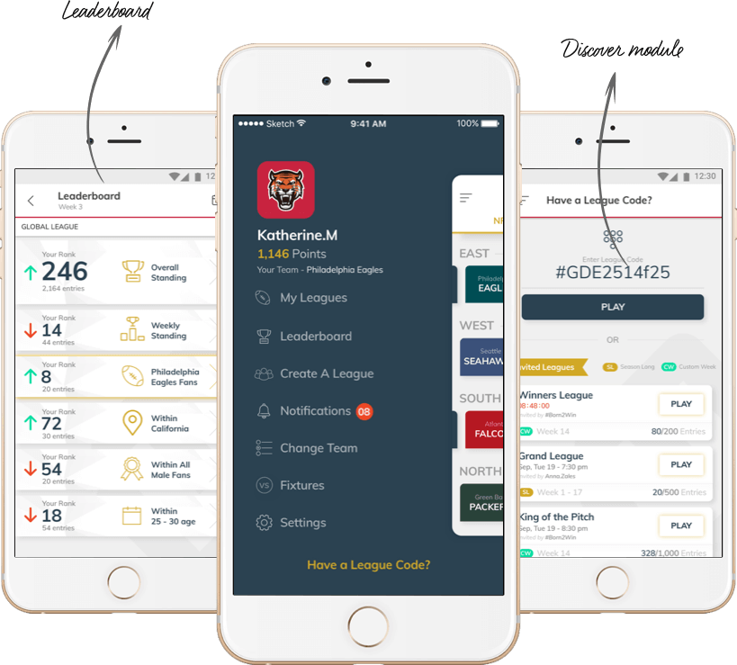 Mobile Social Network Application Design for Sports Fans