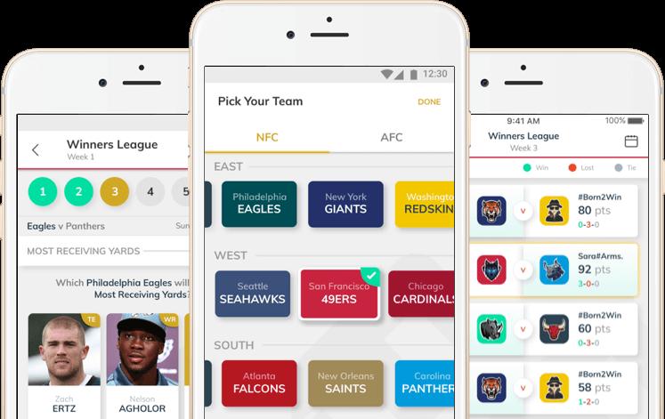 fanview nfl based fantasy football website design