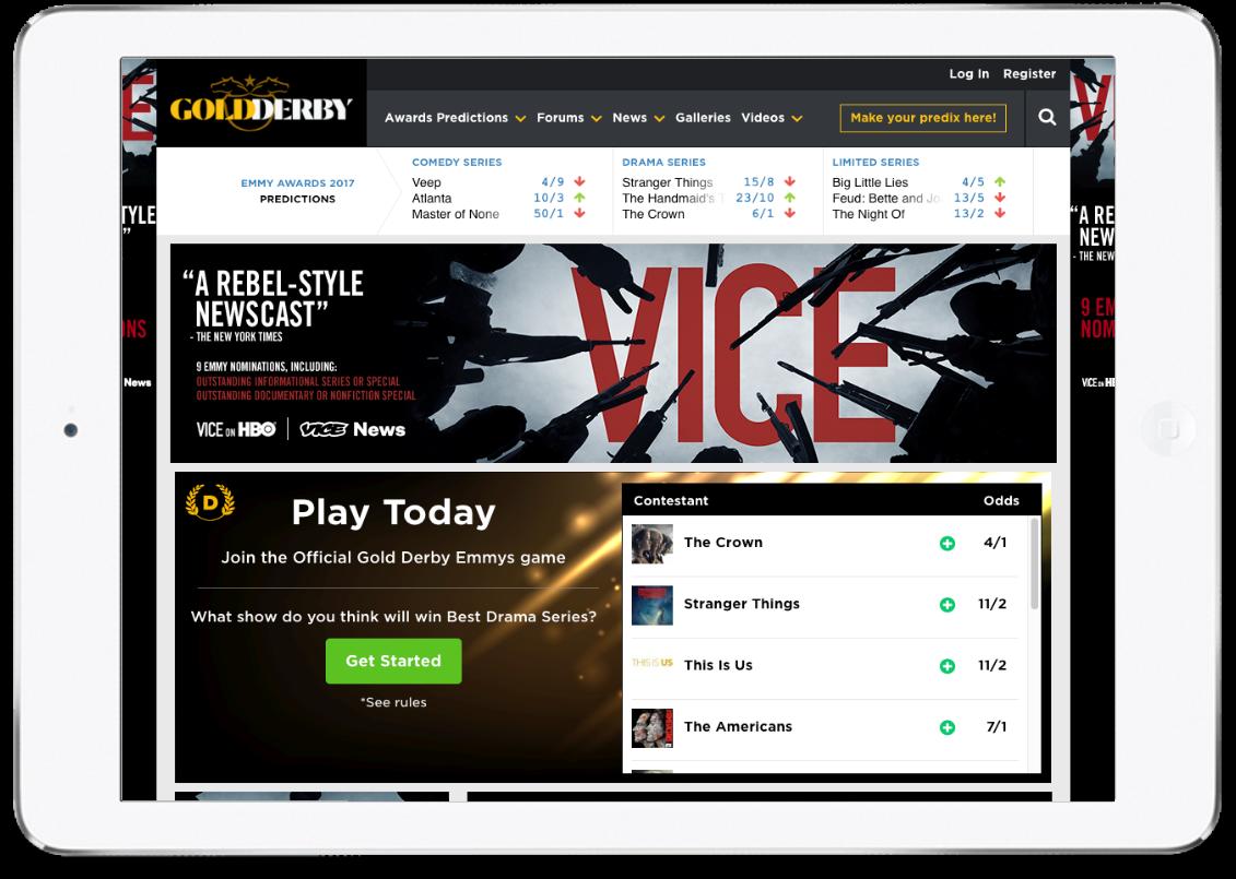 Gold Derby - Fantasy Sports Award Prediction Platform Development by Vinfotech