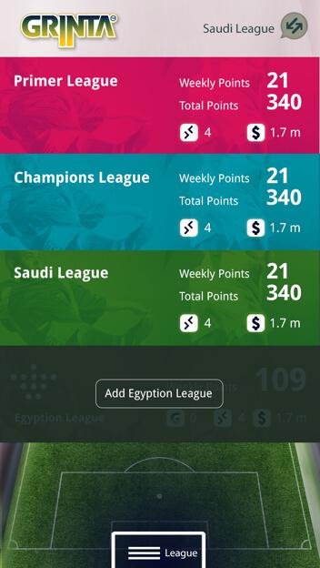Season long fantasy football mobile application – Egyptian, Saudi Leagues, EPL and UEFA by Vinfotech