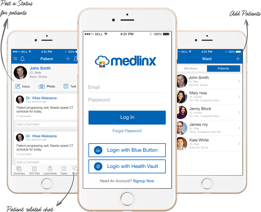 Medlinx - Coordinated Care Website & App – Efficient Diagnosis by Vinfotech