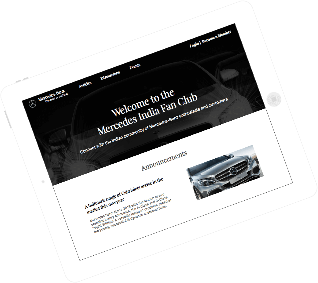 Mercedes Benz Fan Engagement Application by Vinfotech