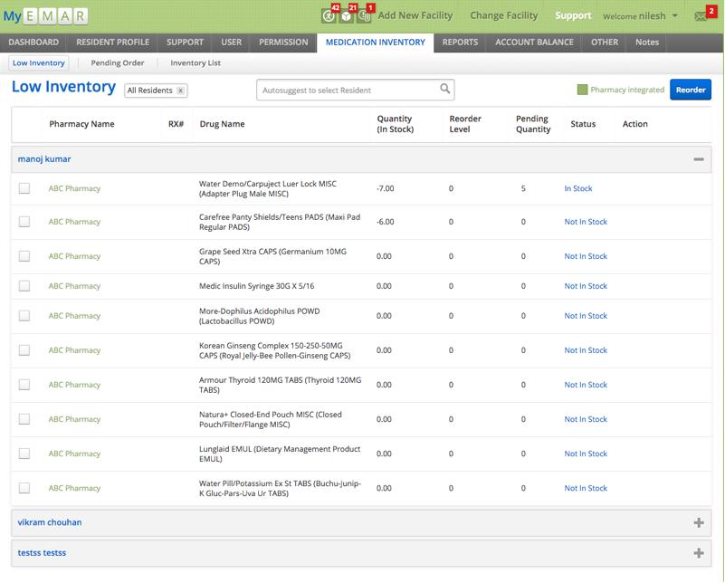MYEMAR - EMR Software Solutions – Facilities by Vinfotech