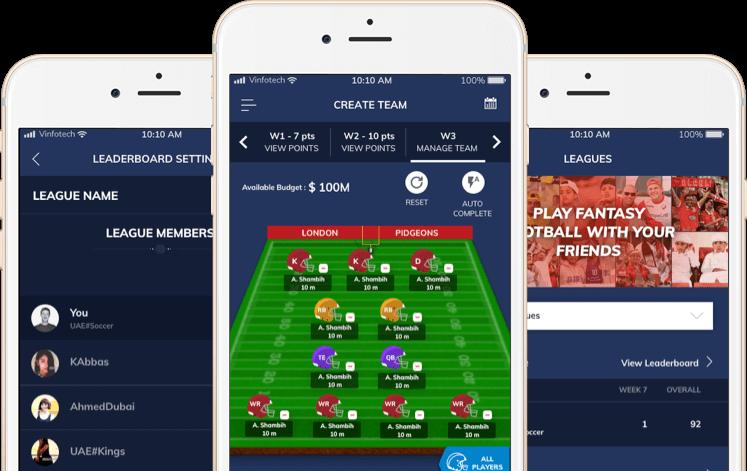 nfl based season long fantasy football website development by vinfotech
