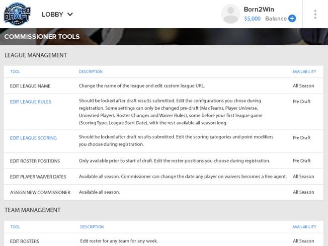 NFL Fantasy football software development by Vinfotech