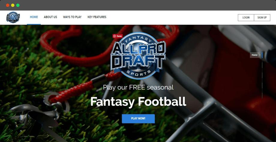 Season Long Fantasy Web Design in Canada
