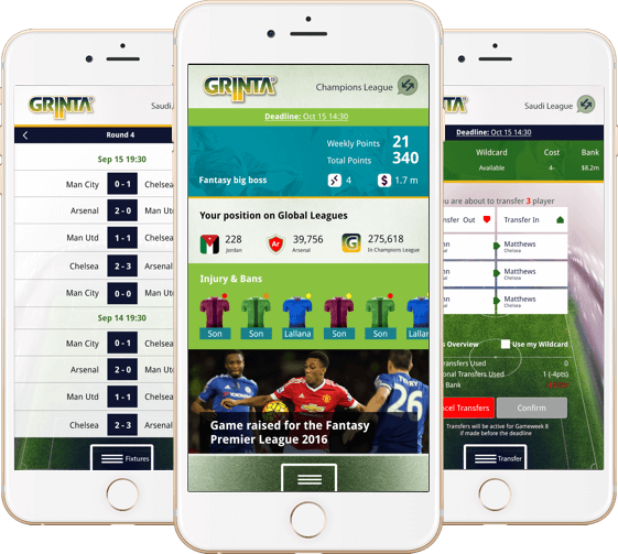 Season long fantasy football software for EPL, UEFA , Egyptian and Saudi Leagues by Vinfotech