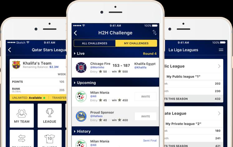 Season Long Fantasy Soccer Web Design Qatar by Vinfotech