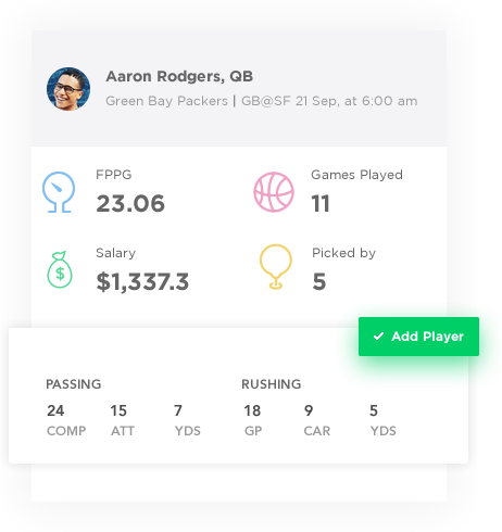 season-long fantasy sports software with player details by Vinfotech
