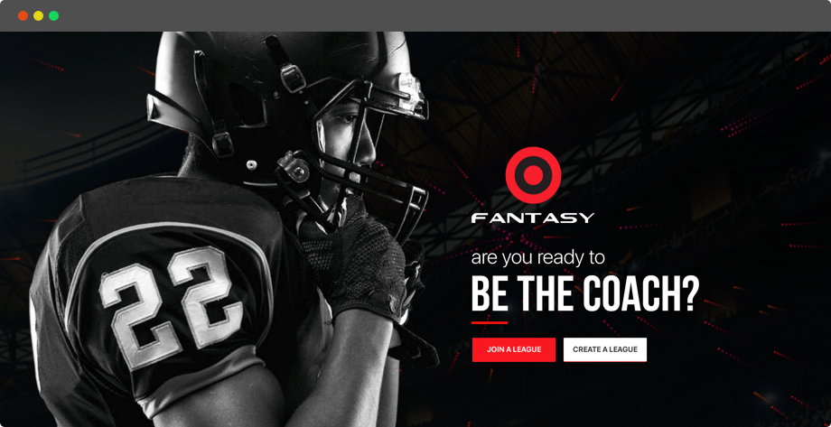 Season-long football fantasy web design and development by Vinfotech
