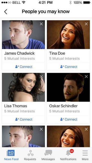 Social Network Profile and Connecting