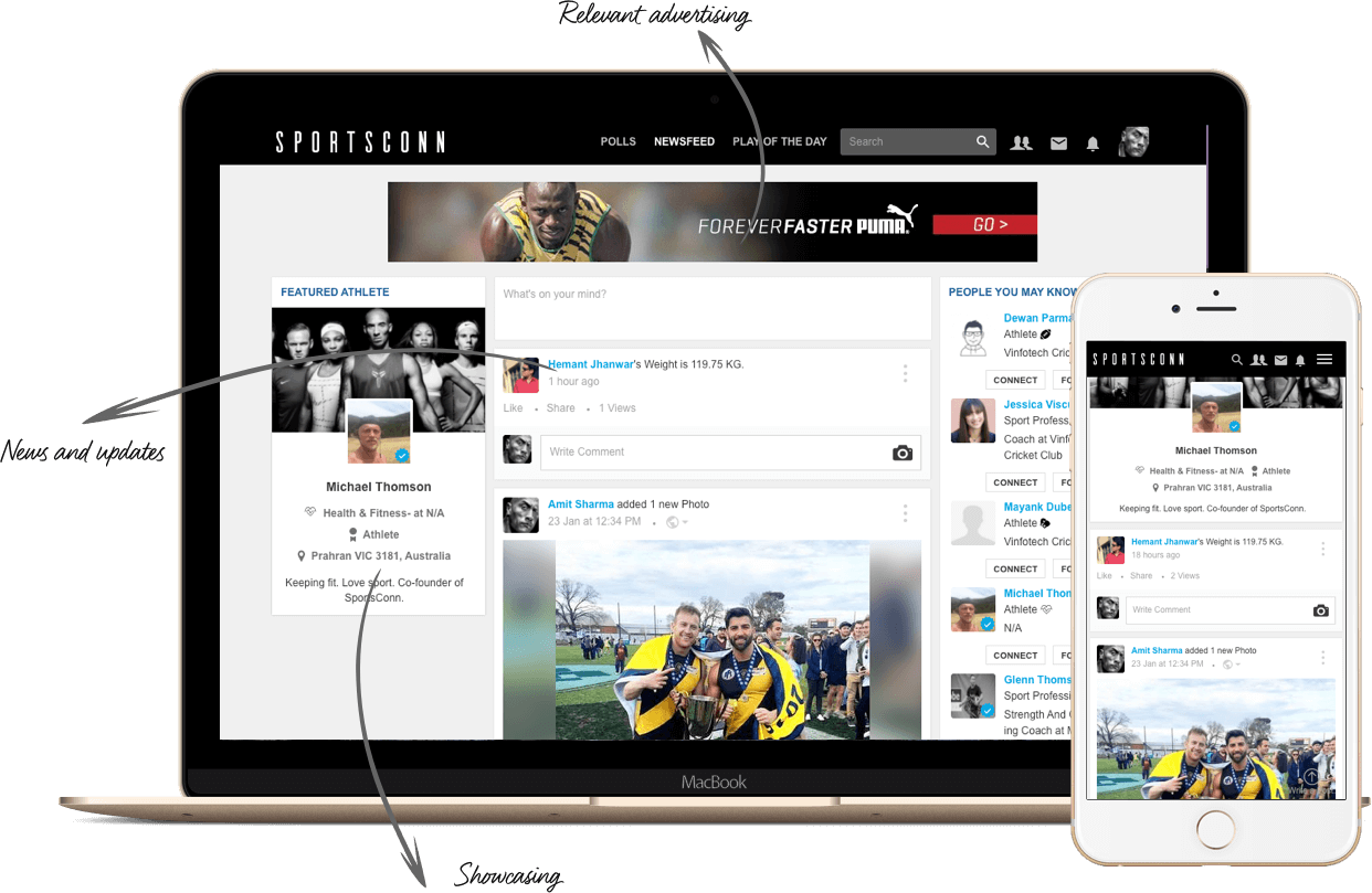 Sports Social Network For Sports Clubs and Athletes