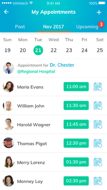 Telehealth Software Solutions for Dermatology – Schedule Manager by Vinfotech