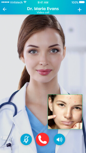 Telehealth Software Solutions for Dermatology – Video Calling by Vinfotech