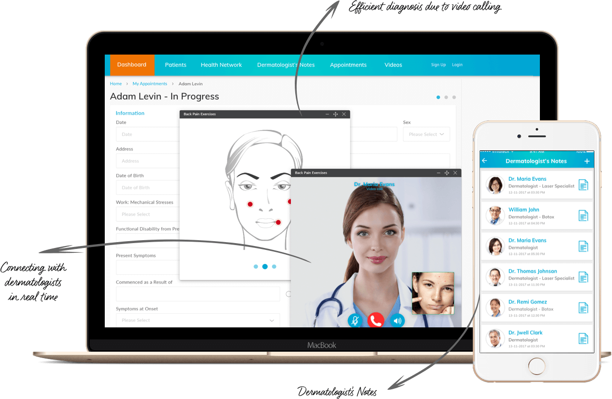 Telehealth Website & App for Dermatology – Efficient Diagnosis by Vinfotech
