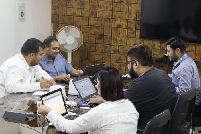 Vinfotech Team at  Work