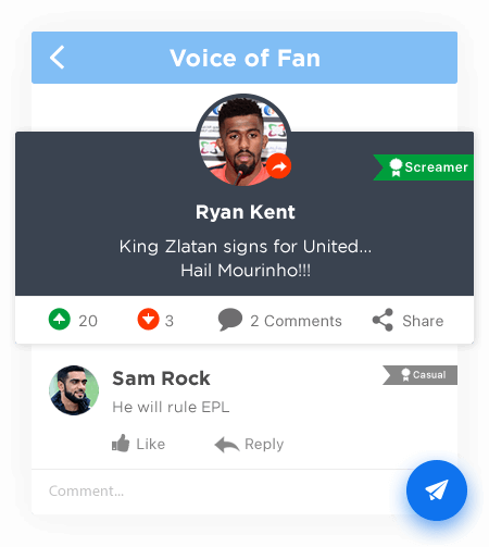 Voice of Fan - Custom Sports Social Network Solutions by Vinfotech