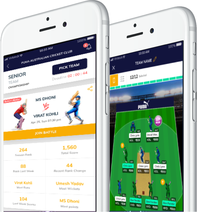 Fantasy cricket website to play club cricket by Vinfotech