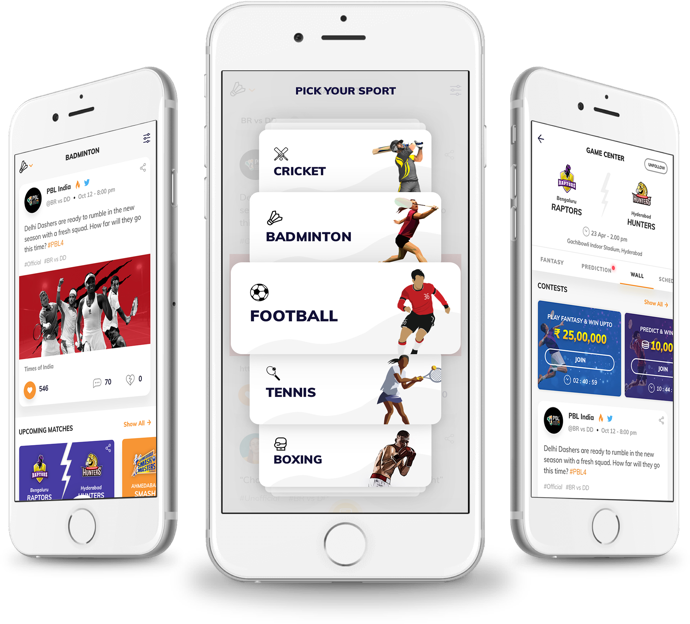 fantasy badminton application development for PBL
